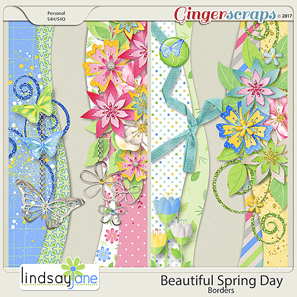 Beautiful Spring Day Borders by Lindsay Jane