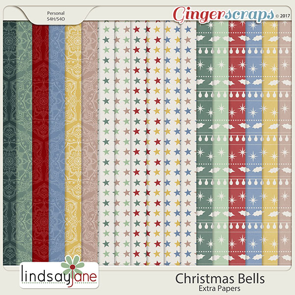 Christmas Bells Extra Papers by Lindsay Jane