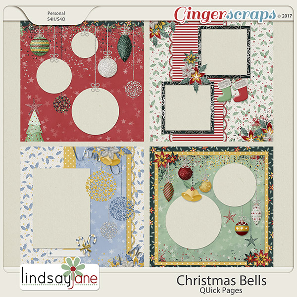 Christmas Bells Quick Pages by Lindsay Jane