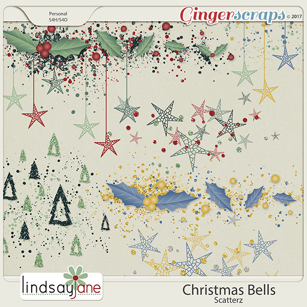 Christmas Bells Scatterz by Lindsay Jane
