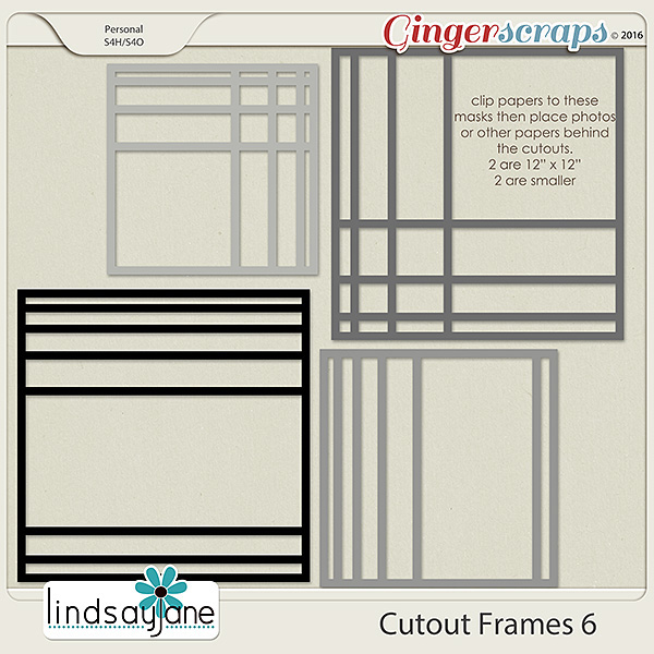 Cutout Frames 6 by Lindsay Jane