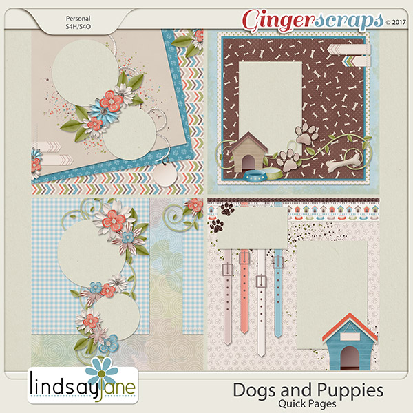 Dogs and Puppies Quick Pages by Lindsay Jane