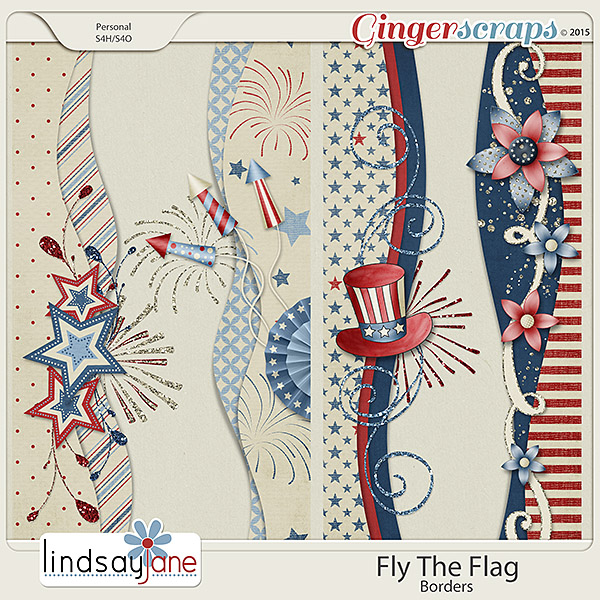 Fly The Flag Borders by Lindsay Jane