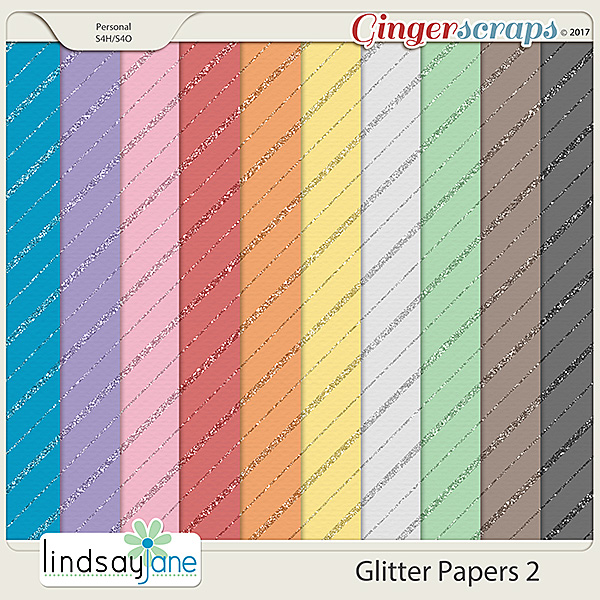 Glitter Papers 2 by Lindsay Jane