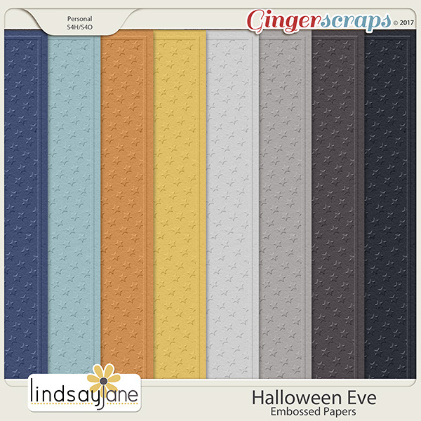 Halloween Eve Embossed Papers by Lindsay Jane