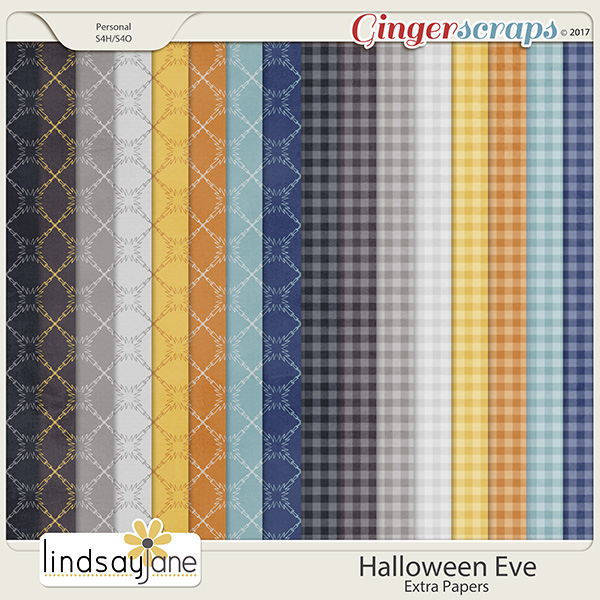 Halloween Eve Extra Papers by Lindsay Jane