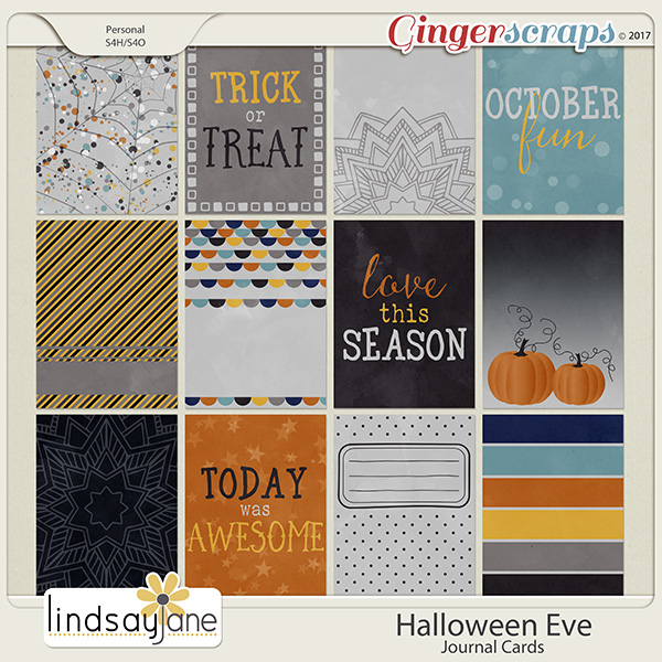 Halloween Eve Journal Cards by Lindsay Jane