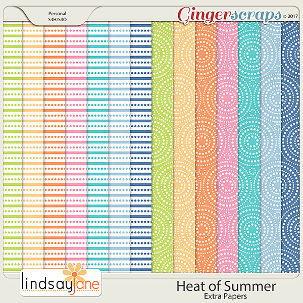Heat of Summer Extra Papers by Lindsay Jane