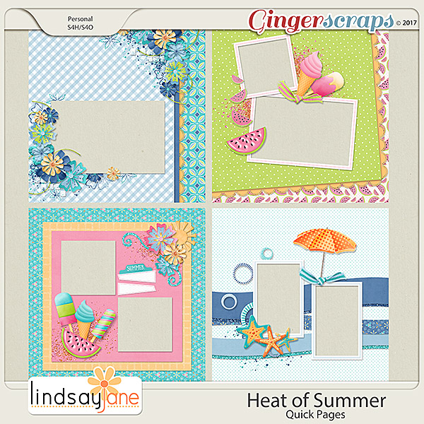 Heat of Summer Quick Pages by Lindsay Jane
