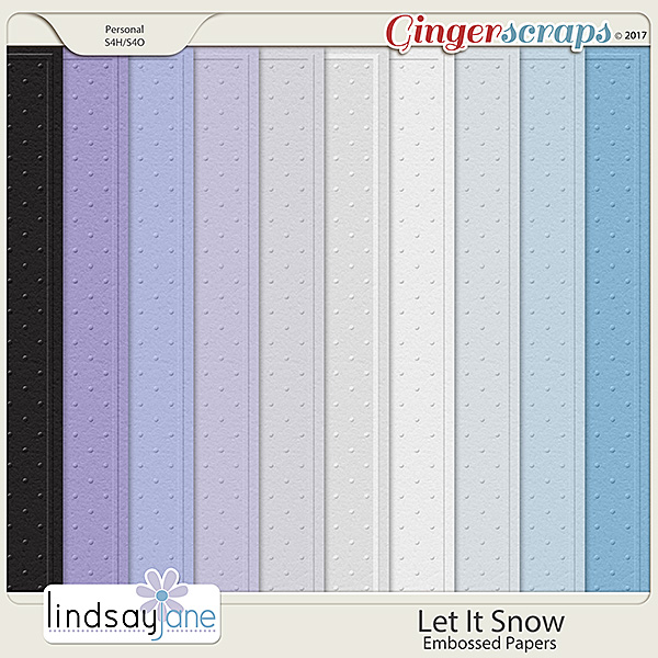 Let It Snow Embossed Papers by Lindsay Jane