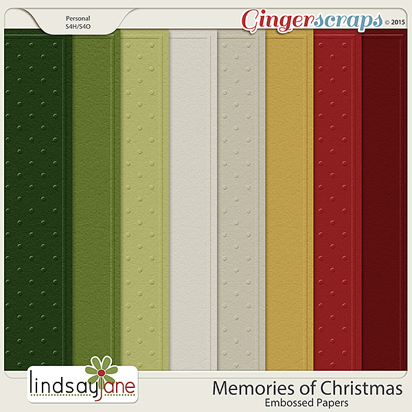 Memories of Christmas Embossed Papers by Lindsay Jane