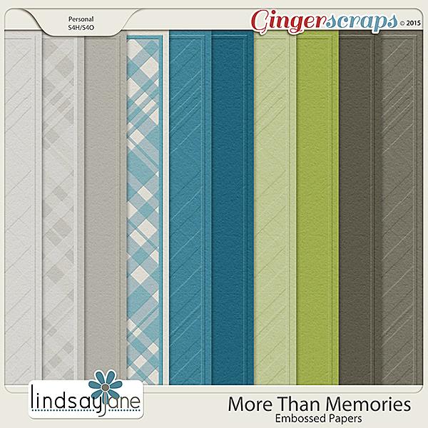 More Than Memories Embossed Papers by Lindsay Jane