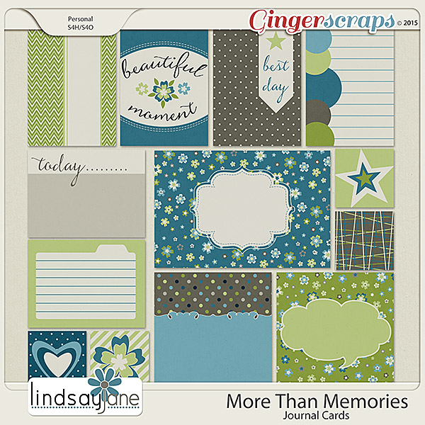 More Than Memories Journal Cards by Lindsay Jane
