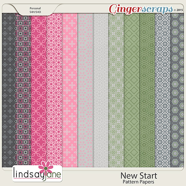 New Start Pattern Papers by Lindsay Jane