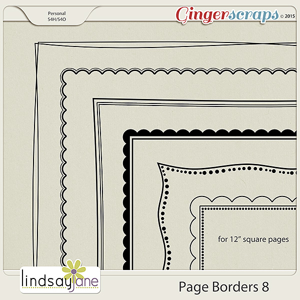 Page Borders 8 by Lindsay Jane