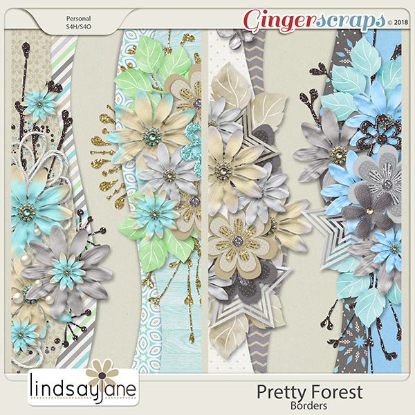 Pretty Forest Borders by Lindsay Jane