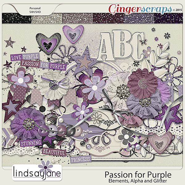 Passion for Purple Elements by Lindsay Jane