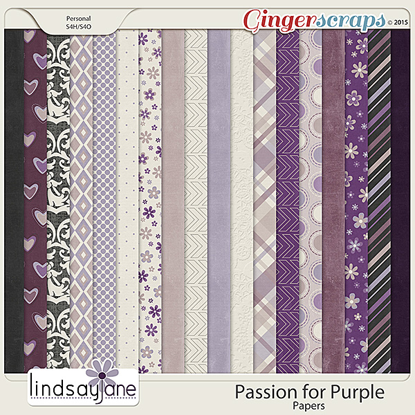 Passion for Purple Papers by Lindsay Jane
