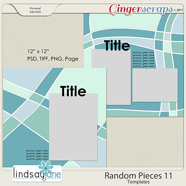 Random Pieces 11 Templates by Lindsay Jane