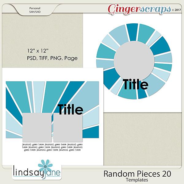 Random Pieces 20 Templates by Lindsay Jane