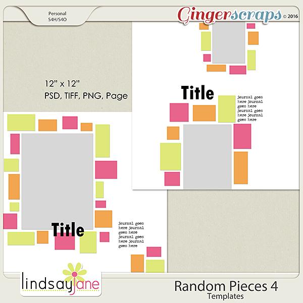 Random Pieces 4 Templates by Lindsay Jane