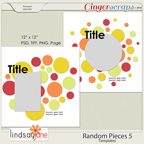 Random Pieces 5 Templates by Lindsay Jane