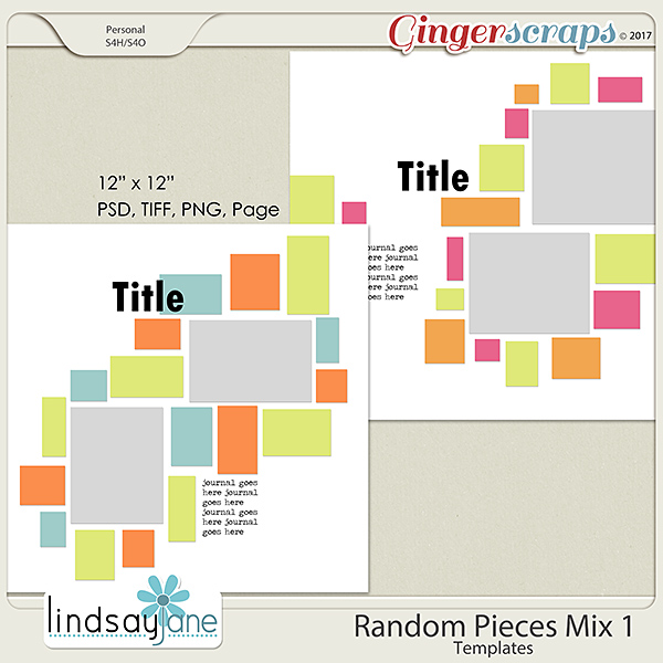 Random Pieces Mix 1 Templates by Lindsay Jane