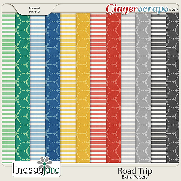 Road Trip Extra Papers by Lindsay Jane