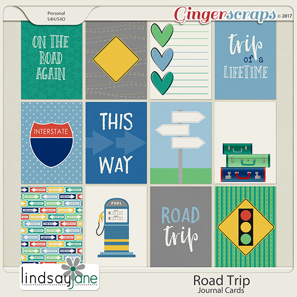 Road Trip Journal Cards by Lindsay Jane