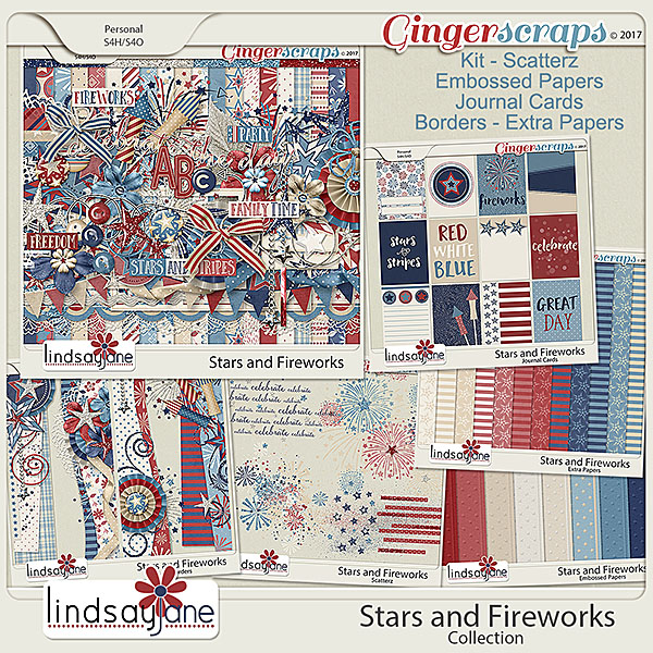 Stars and Fireworks Collection by Lindsay Jane