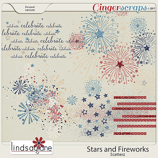Stars and Fireworks Scatterz by Lindsay Jane