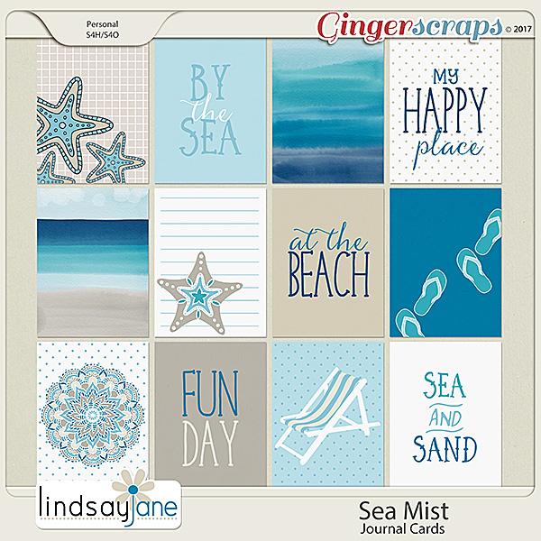 Sea Mist Journal Cards by Lindsay Jane