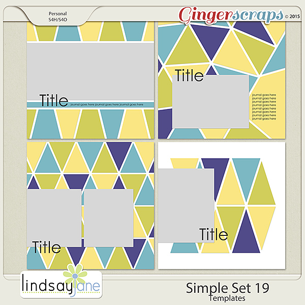 Simple Set 19 Templates by Lindsay Jane