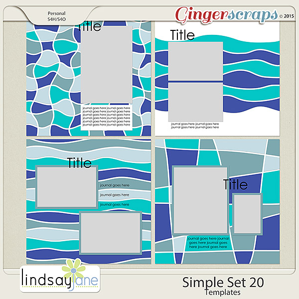 Simple Set 20 Templates by Lindsay Jane