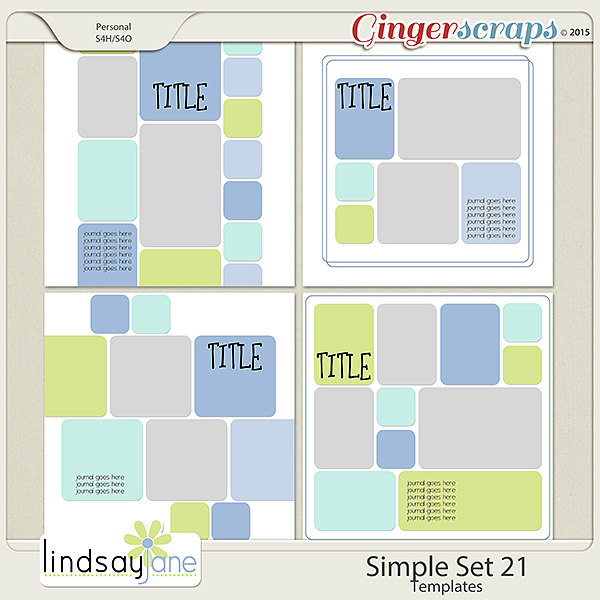 Simple Set 21 Templates by Lindsay Jane