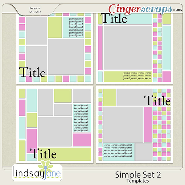 Simple Set 2 Templates by Lindsay Jane