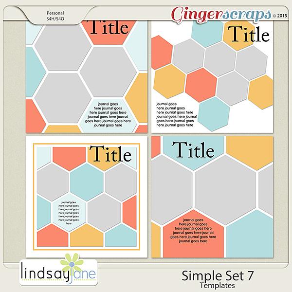 Simple Set 7 Templates by Lindsay Jane