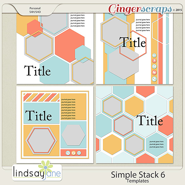 Simple Stack 6 Templates by Lindsay Jane