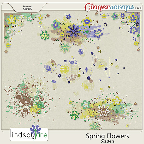 Spring Flowers Scatterz by Lindsay Jane
