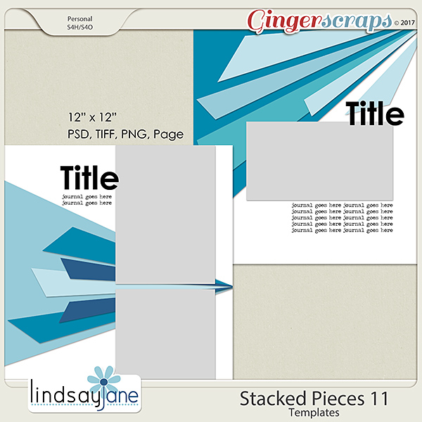 Stacked Pieces 11 Templates by Lindsay Jane