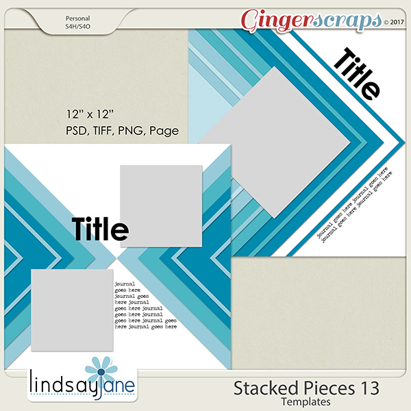Stacked Pieces 13 Templates by Lindsay Jane