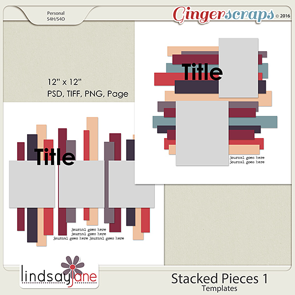 Stacked Pieces 1 Templates by Lindsay Jane