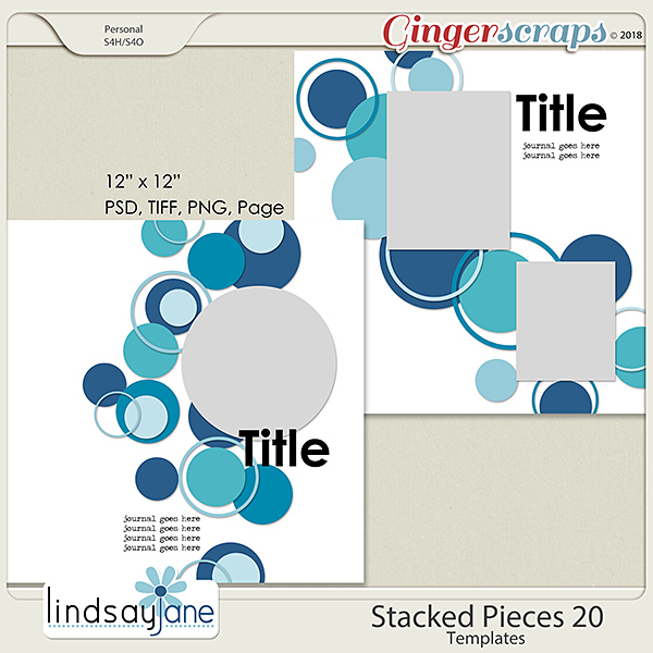 Stacked Pieces 20 Templates by Lindsay Jane