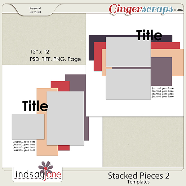 Stacked Pieces 2 Templates by Lindsay Jane