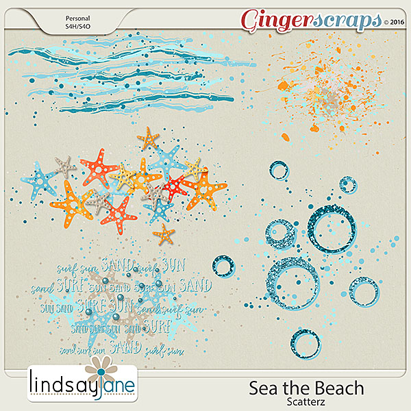 Sea the Beach Scatterz by Lindsay Jane