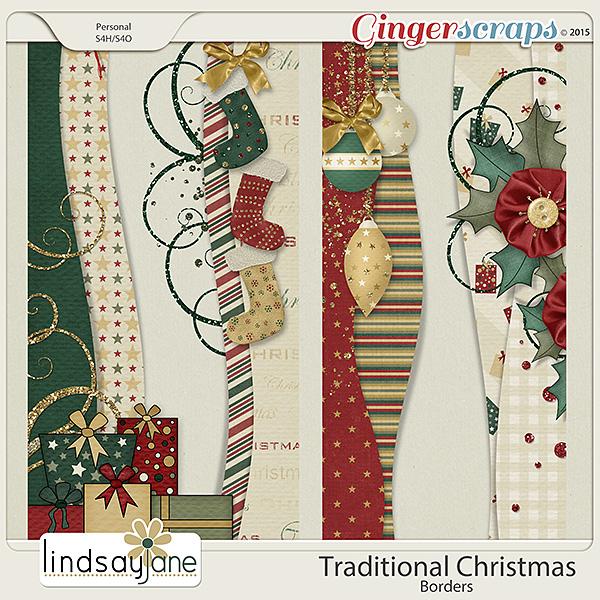 Traditional Christmas Borders by Lindsay Jane