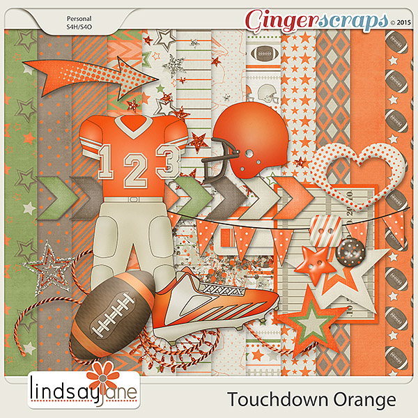 Touchdown Orange by Lindsay Jane