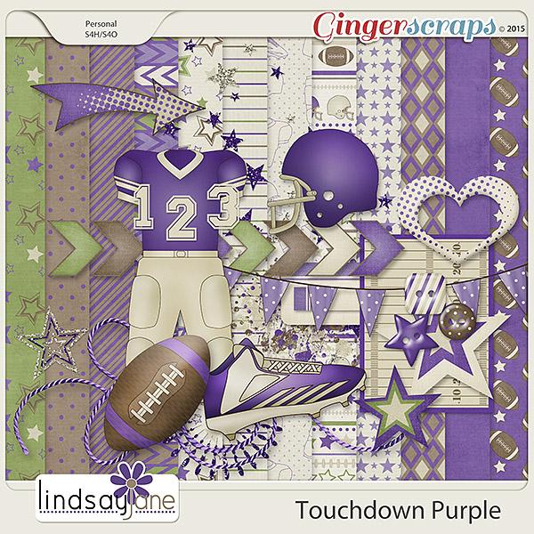 Touchdown Purple by Lindsay Jane
