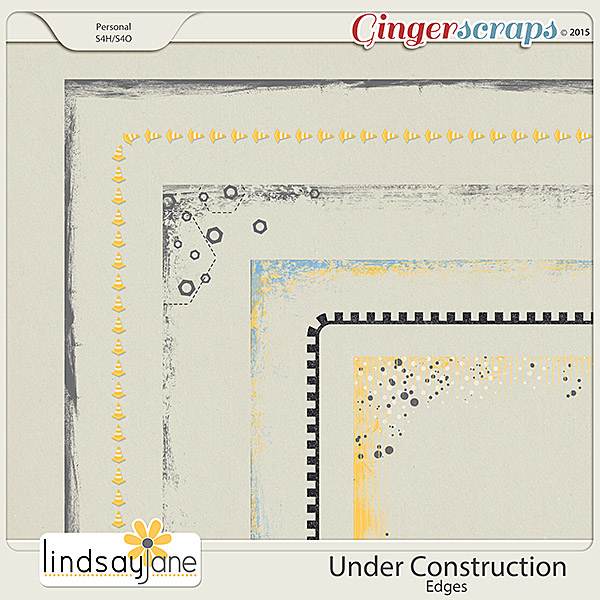 Under Construction Edges by Lindsay Jane