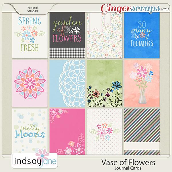 Vase of Flowers Journal Cards by Lindsay Jane
